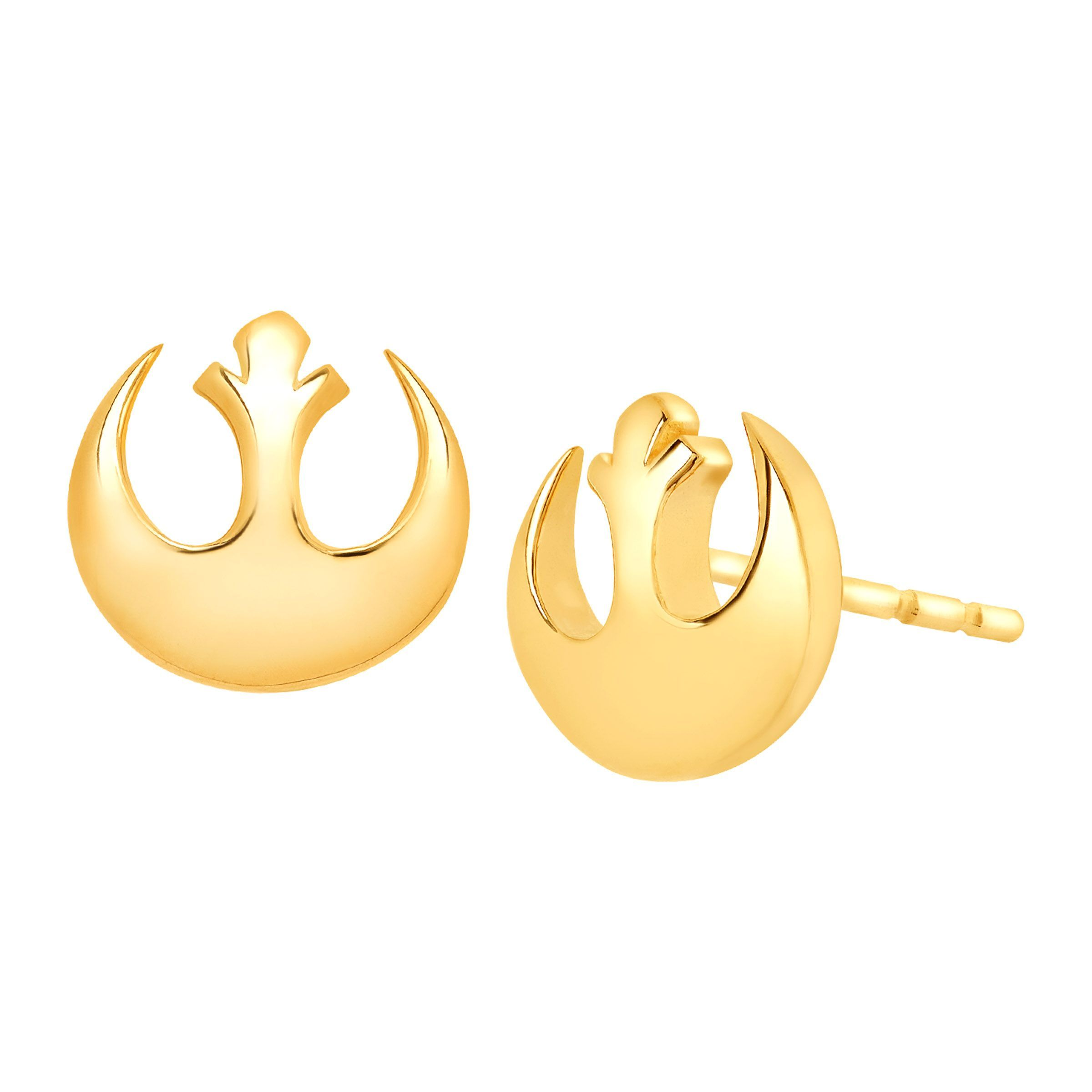 earrings v in stud gold cubic zirconia p
