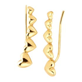 Graduating Heart Ear Climber Earrings