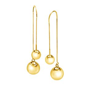 Ball Stud Threader Drop Earrings