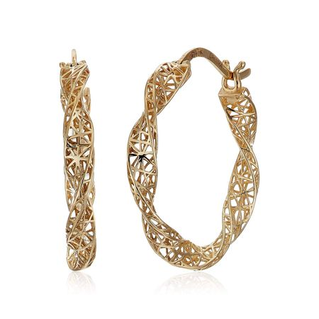Twisted Mesh Hoop Earrings