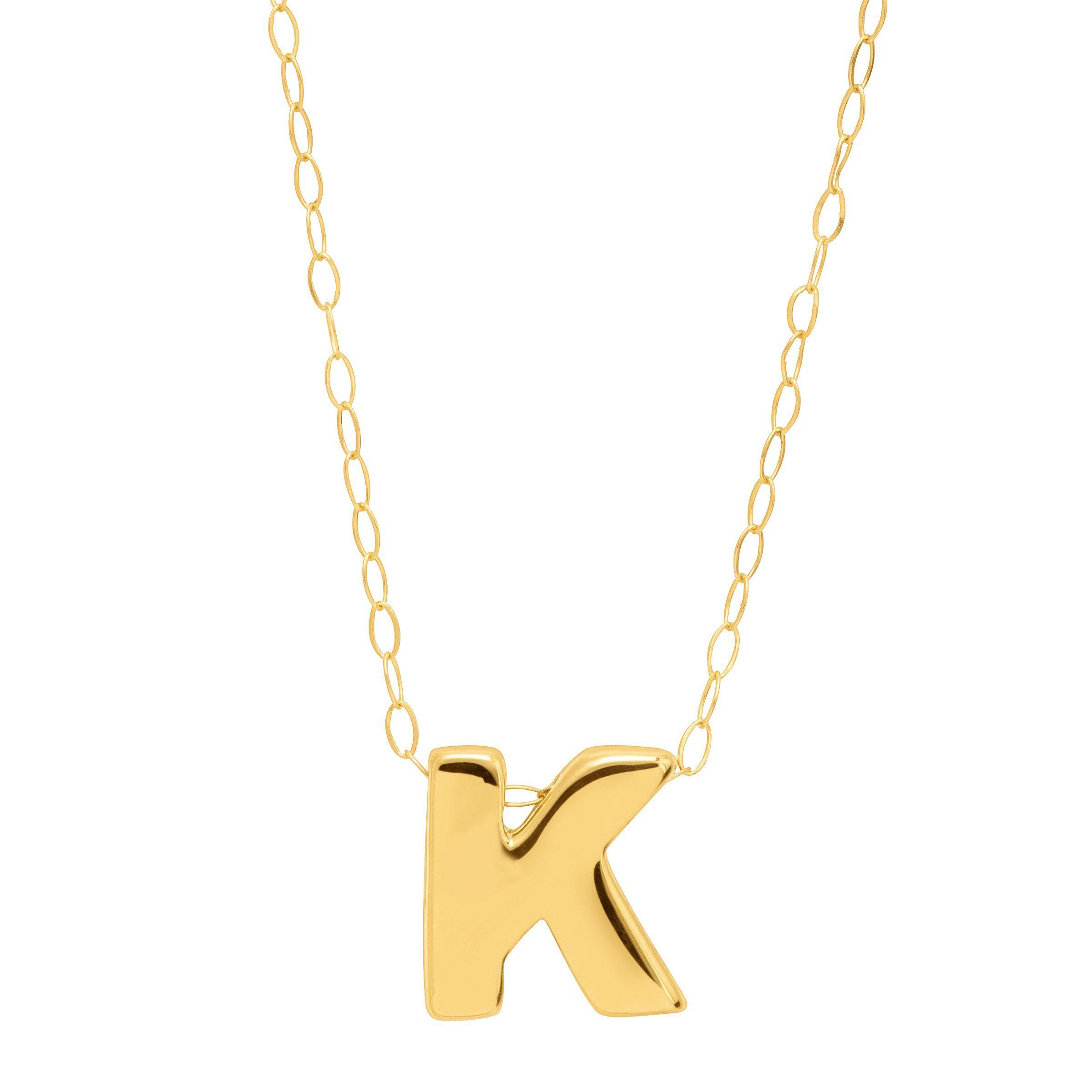 18994f35abc8c3 Eternity Gold Teeny Tiny K Initial Pendant In 10k 98087794769
