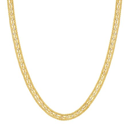 Twisted Link Band Chain Necklace