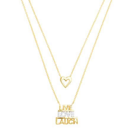 'Live, Love, Laugh' Layered Necklace