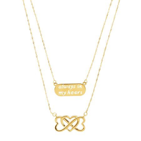 'Always in My Heart' & Infinity Heart Layered Necklace