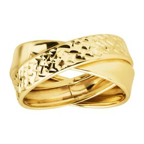 Crisscross Double Band Ring