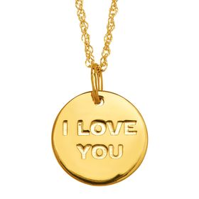 'I Love You; I Know' Reversible Disc Pendant
