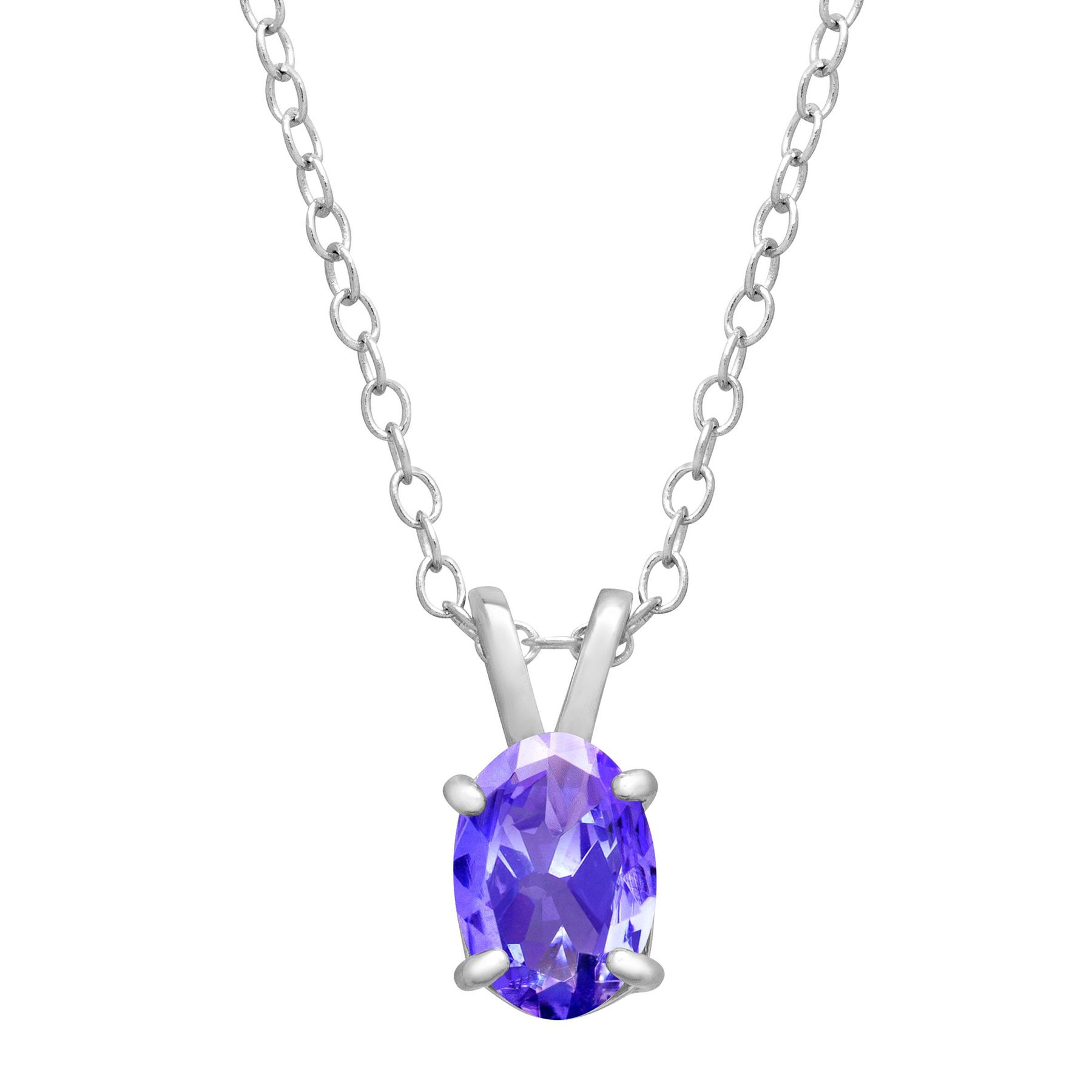 sterling pendant swarovski silver pendants crystals with necklaces tanzanite oval