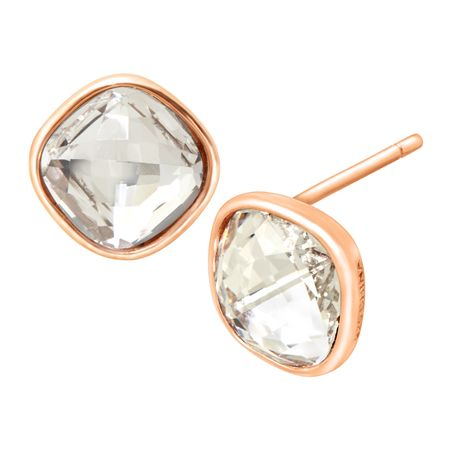 Solitaire Stud Earrings with Swarovski Crystals