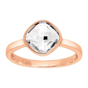 Solitaire Ring with Swarovski Crystal