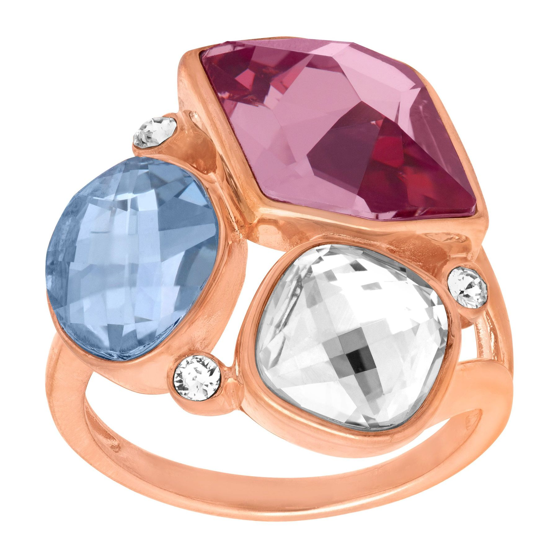 56dd54121 Crystaluxe Cluster Ring with Swarovski Crystals in 18K Rose Gold-Plated  Sterling Silver | Cluster Ring with Swarovski Crystals | Jewelry.com