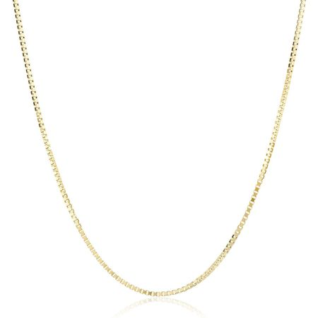 Box Chain Necklace, Yellow, 16