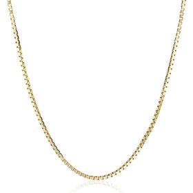 Polished Box Chain Necklace, 20""