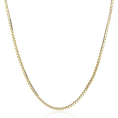 Polished Box Chain Necklace, 20