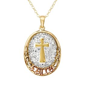 Faith Pendant with Swarovski Crystals