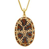 Deals on Crystaluxe Leopard Pendant with Swarovski Crystals
