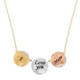 'I Love You More' Necklace with Swarovski Crystals