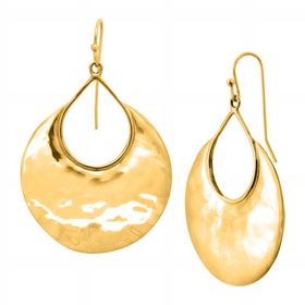 Crescent Drop Earrings, Yellow