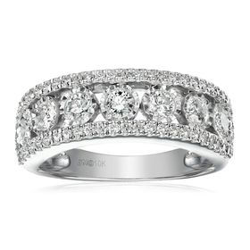 1 ct Diamond Wedding Band Ring
