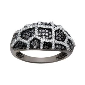 5/8 ct Black & White Diamond Ring
