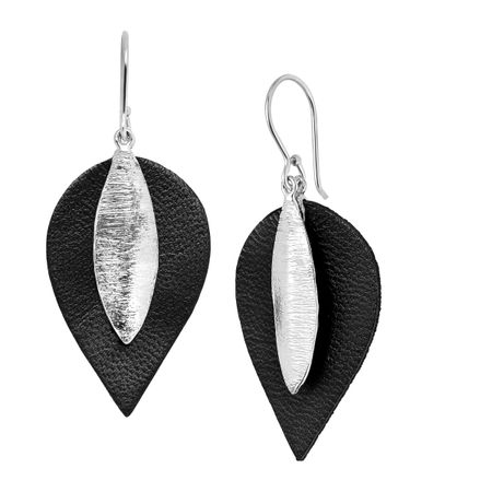 Layered Leaf Drop Earrings