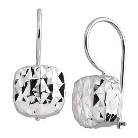 Rounded Cube Drop Earrings