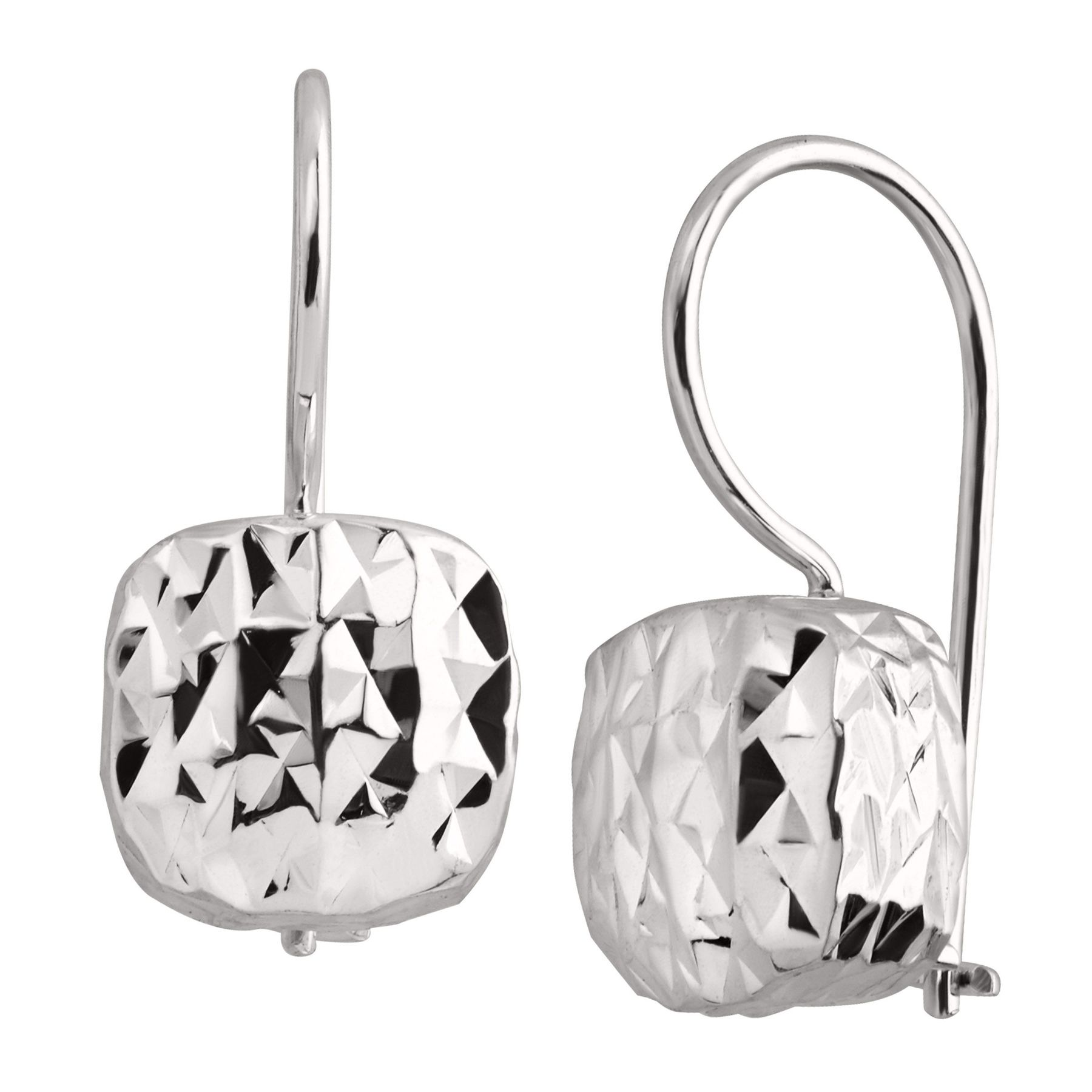32 Round Crystal Ear Studs 925 Sterling Silver Nb Of Crystal Stones
