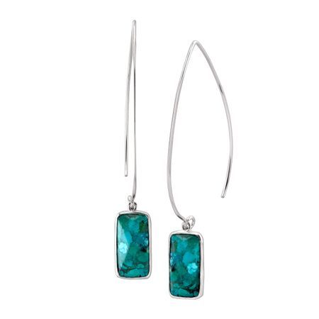 9dc3371b9 Silpada 'Oasis' Compressed Turquoise Wire Drop Earrings in Sterling ...