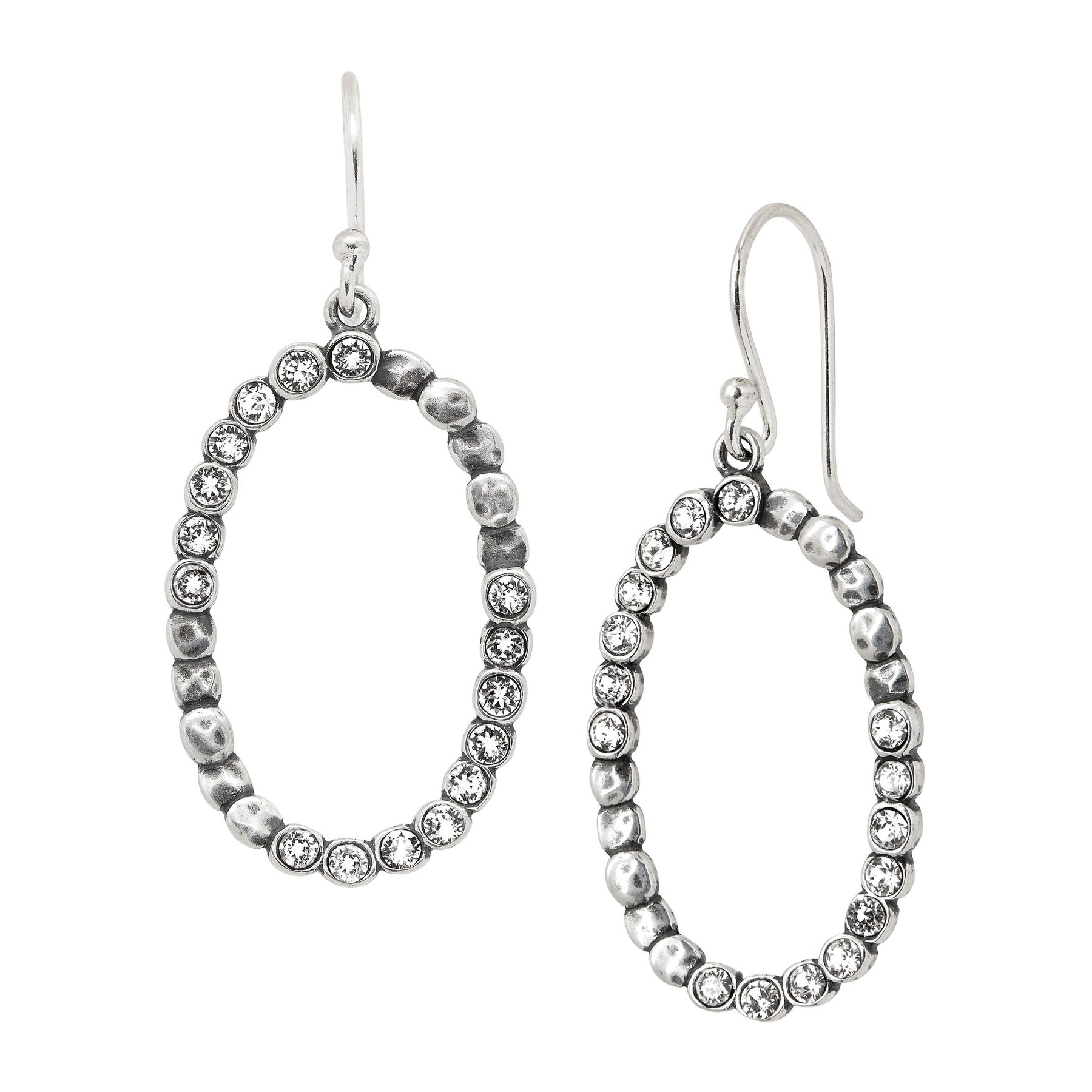 e0ecc8136 Silpada 'Oval Glitz' Beaded Open Drop Earrings with Swarovski Crystals in  Sterling Silver | Oval Glitz Drop Earrings | Silpada