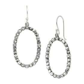 Oval Glitz Drop Earrings