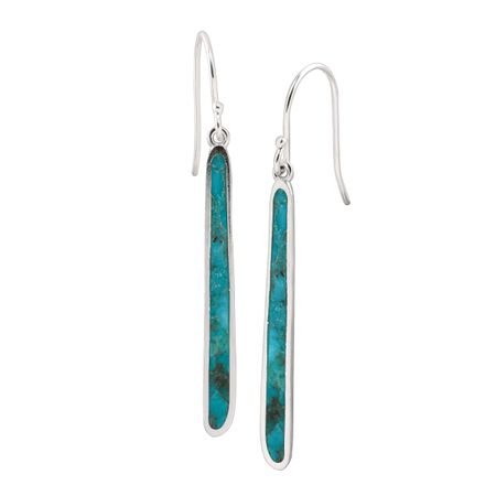 fc20c2ab3 Silpada 'Turquoise Drop' Compressed Turquoise Drop Earrings in ...
