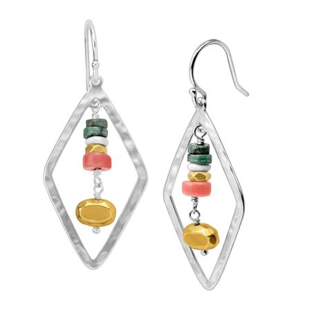 Colorful Array Drop Earrings