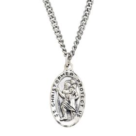 St. Christopher Medallion Necklace
