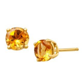 3/4 ct Citrine Stud Earrings