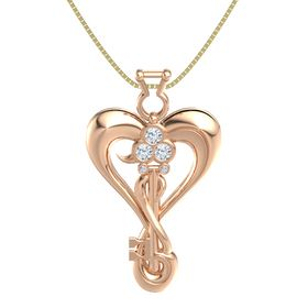 18K Rose Gold Necklace with Diamond