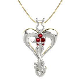 Platinum Necklace with Ruby