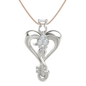 Platinum Pendant with Diamond
