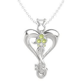 Sterling Silver Necklace with Peridot