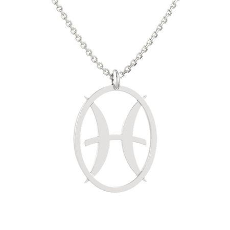 Sterling silver pendant pisces pendant gemvara pisces pendant mozeypictures Choice Image