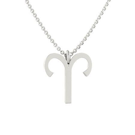 14k white gold necklace aries pendant gemvara aries pendant aloadofball Choice Image