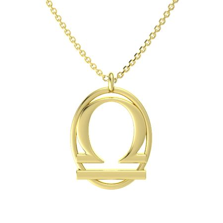 14k yellow gold necklace libra pendant gemvara libra pendant aloadofball Image collections