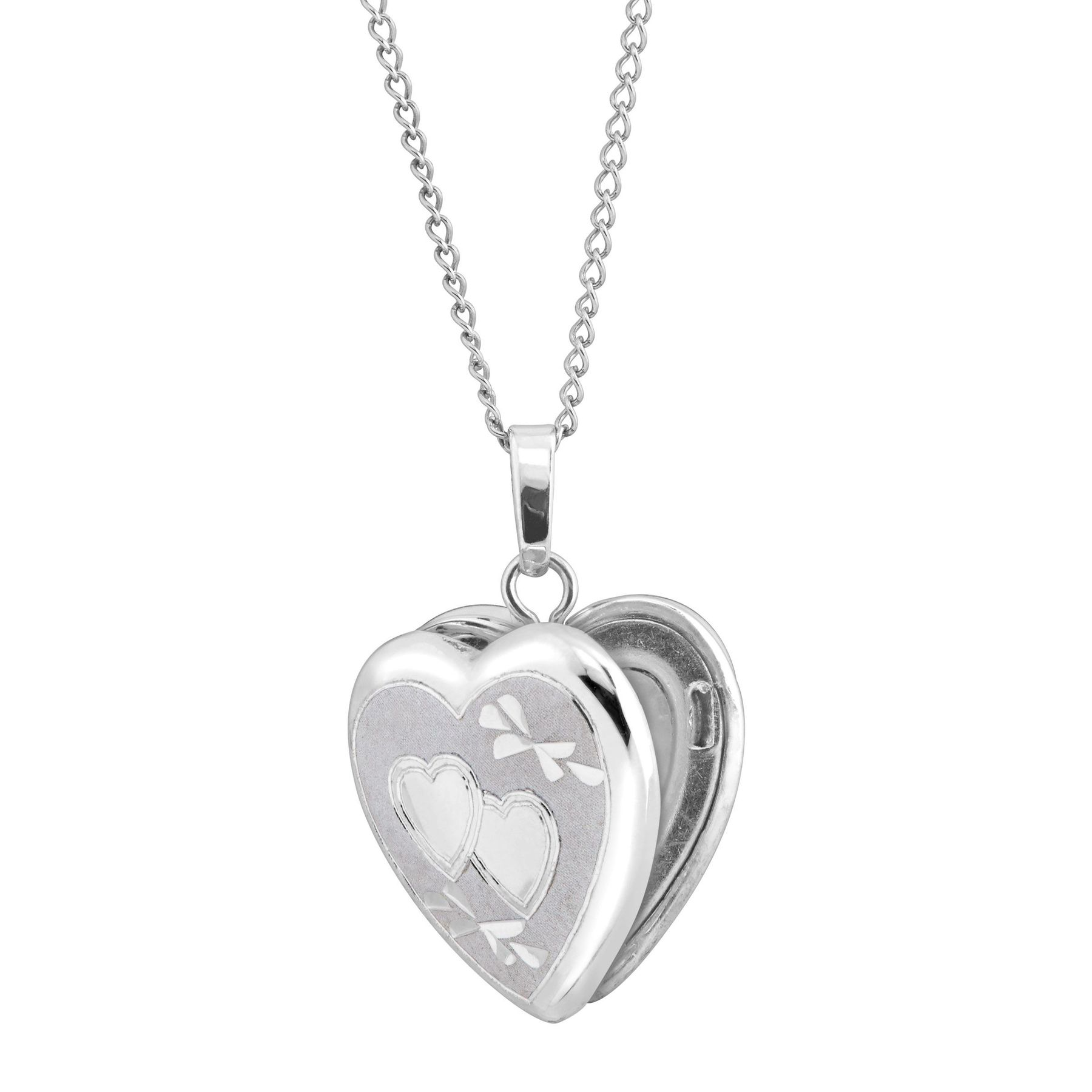 sterling birks etched silver and locket heart necklace products my pendant photo