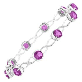 7 ct Amethyst Tennis Bracelet with Diamonds