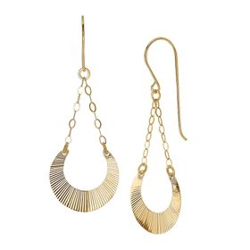 Horseshoe Drop Chain Earrings