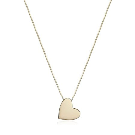 Floating Angled Heart Pendant