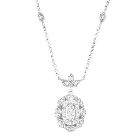 1/3 ct Diamond Scalloped Necklace