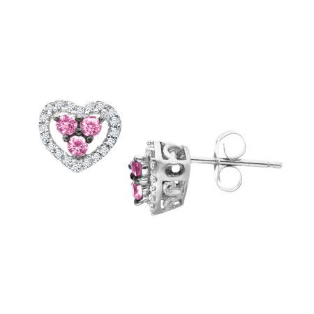 Pink Shire Heart Stud Earrings