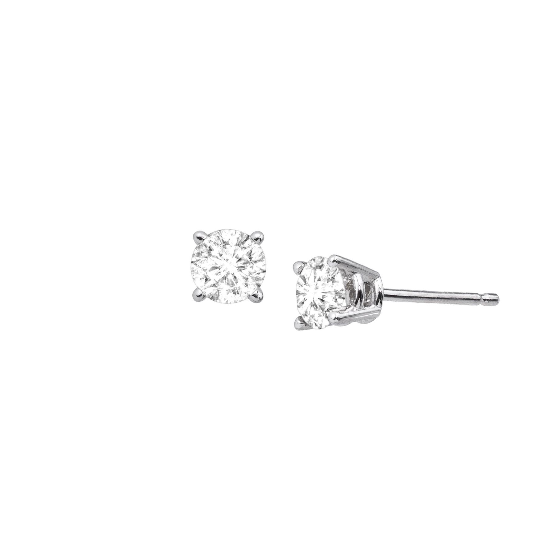 1 2 ct Diamond Stud Earrings in 14K White Gold  5fa504918f