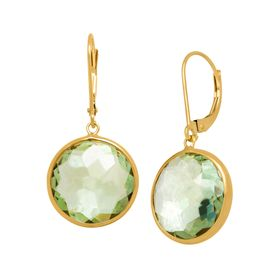 13 ct Green Amethyst Drop Earrings