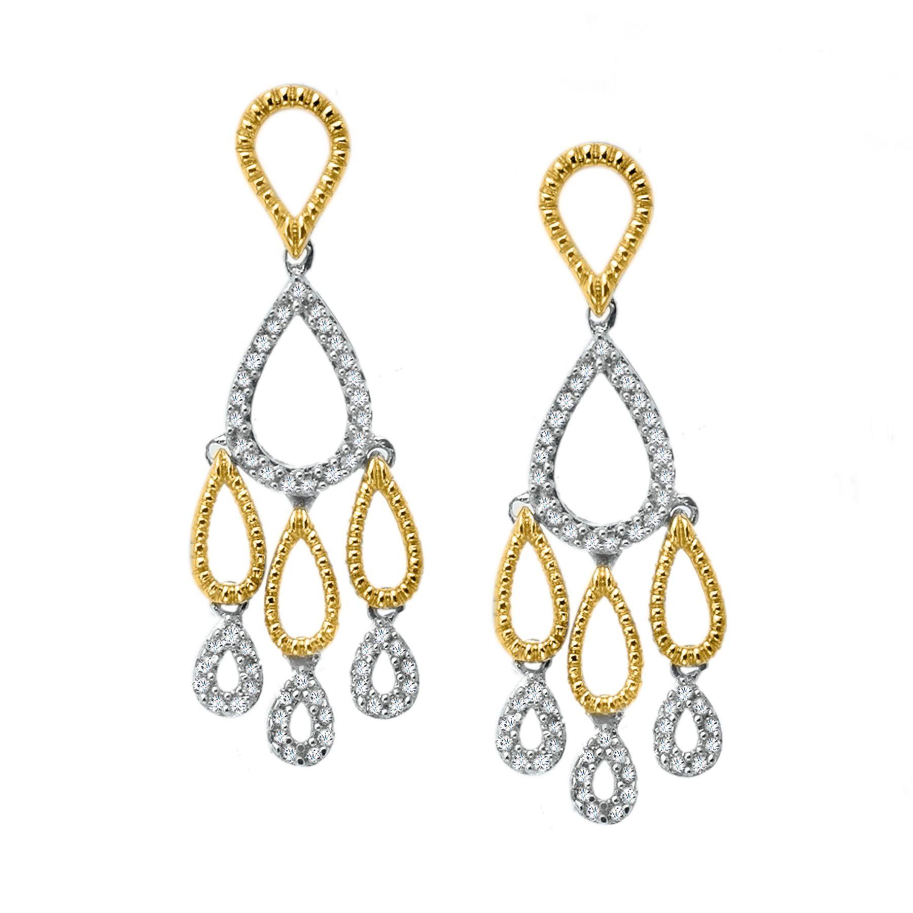 1 3 Ct Diamond Chandelier Earrings