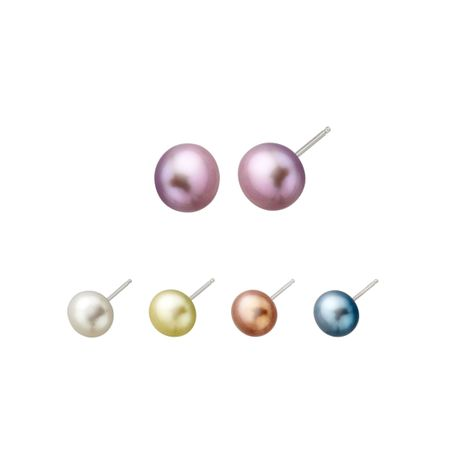 Set of 5 Pearl Stud Earrings